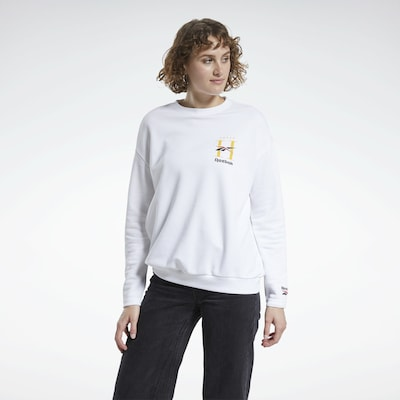 Reebok Classic Pullover in weiß: Frontalansicht