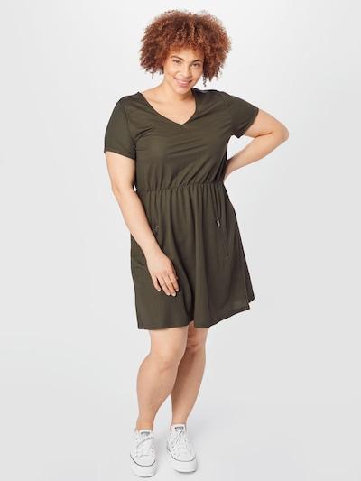 ABOUT YOU Curvy Kleid 'Cassia' in khaki, Modelansicht