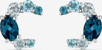 CHRIST Ohrringe in blau / silber, Produktansicht