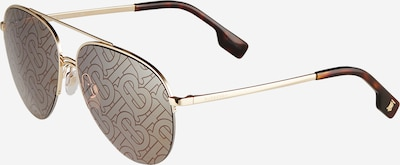 BURBERRY Слънчеви очила 'FERRY' в кафяво / злато, Преглед на продукта