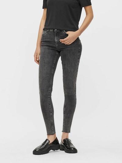 PIECES Jeans in grey denim, Modelansicht