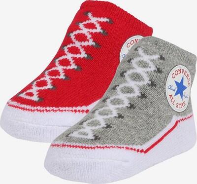 CONVERSE Socken 'Chuck Taylor' in grau / mischfarben / rot, Produktansicht