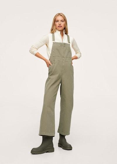 MANGO Latzhose 'Khris in khaki, Modelansicht