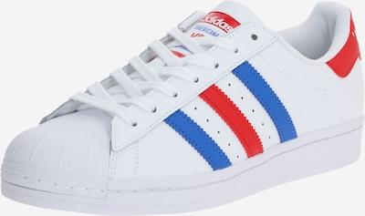 ADIDAS ORIGINALS Baskets basses 'SUPERSTAR' en bleu / rouge / blanc, Vue avec produit