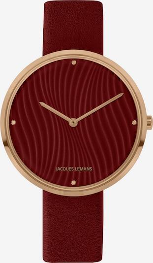 Jacques Lemans Analog Watch in Gold / Bordeaux, Item view