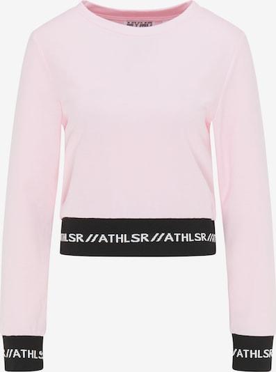 myMo ATHLSR Sportpullover in hellpink / schwarz, Produktansicht