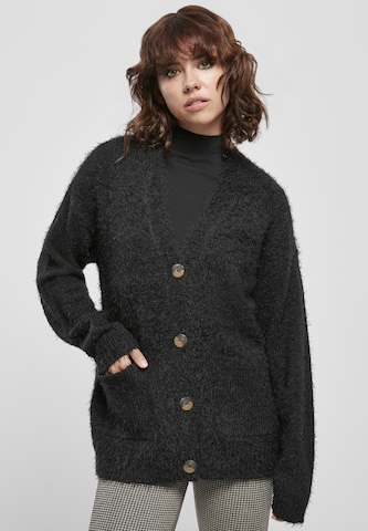 Urban Classics Knit Cardigan in Black