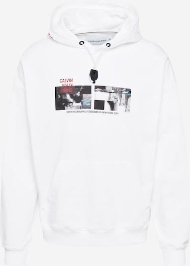 Calvin Klein Jeans Mikina - svetlomodrá / sivá / červená / čierna / biela, Produkt