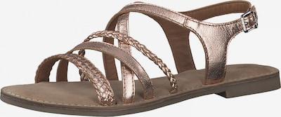 Sandale cu baretă s.Oliver pe auriu - roz, Vizualizare produs