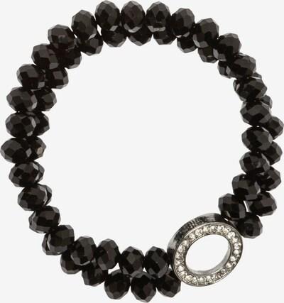 Ulla Popken Armband in schwarz / silber / weiß, Produktansicht