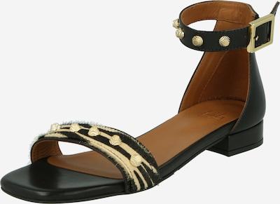 Billi Bi Sandaler med rem i beige / guld / sort, Produktvisning