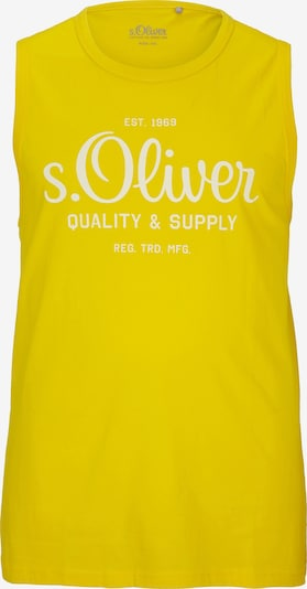 s.Oliver Men Big Sizes Tanktop in gelb / weiß, Produktansicht