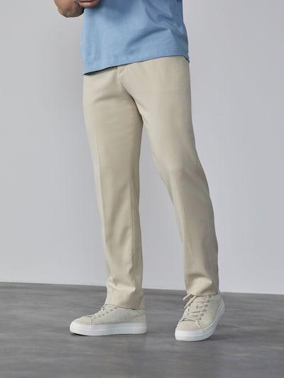 DAN FOX APPAREL Suorat housut 'Tiago' värissä beige, Mallinäkymä