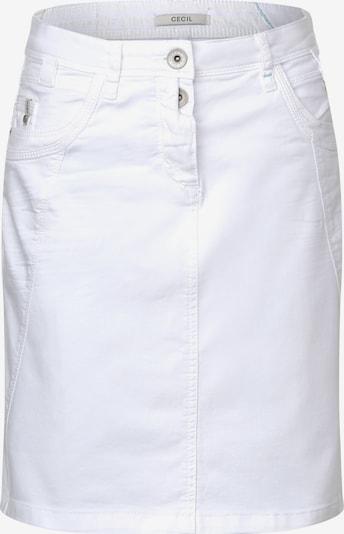 CECIL Rock in white denim, Produktansicht