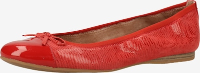 TAMARIS Ballerines en rouge, Vue avec produit