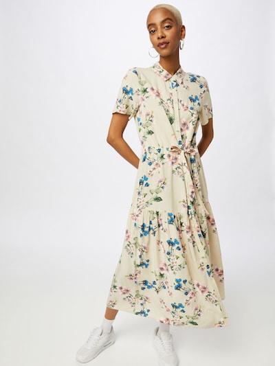 OBJECT Blusenkleid 'Paree' in beige / royalblau / senf / grasgrün / pastellpink, Modelansicht