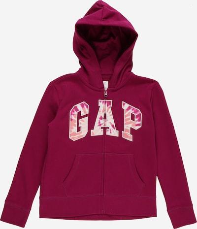 GAP Sweatjacke in pfirsich / pink / himbeer / weiß, Produktansicht