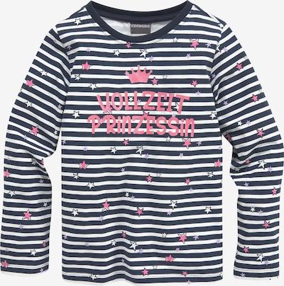 Kidsworld T-Shirt in navy / rosé / weiß, Produktansicht