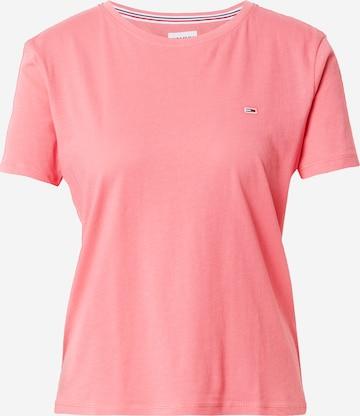 Maglietta di Tommy Jeans in rosa