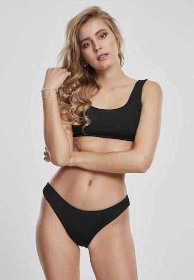 Urban Classics Bikini in schwarz: Frontalansicht