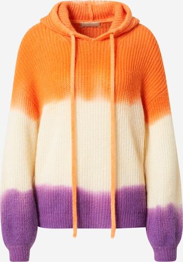 120% Lino Svetr - tmavě fialová / oranžová / přírodní bílá, Produkt