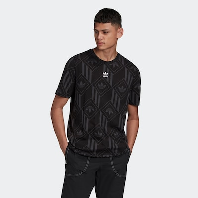 ADIDAS ORIGINALS Shirt in de kleur Grijs / Zwart / Wit: Vooraanzicht