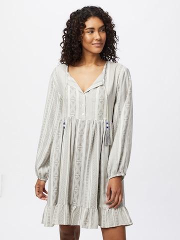Zwillingsherz Košeľové šaty 'Nala' - Sivá