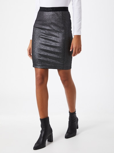 Sijonas 'Milano' iš Calvin Klein Jeans , spalva - sidabro pilka / juoda: Vaizdas iš priekio