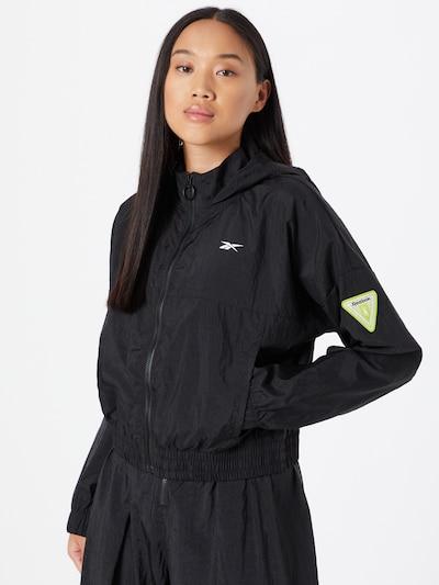 Reebok Sport Sportjas in de kleur Zwart: Vooraanzicht