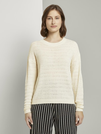 TOM TAILOR DENIM Pullover in beige, Modelansicht