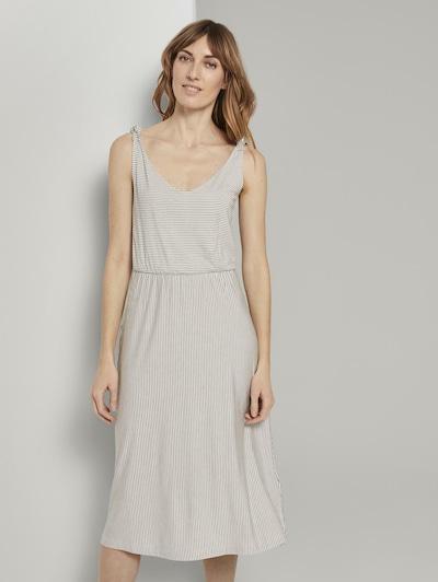 TOM TAILOR Kleid in beige / grau, Modelansicht