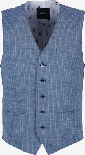 s.Oliver BLACK LABEL Weste in blau / weiß, Produktansicht