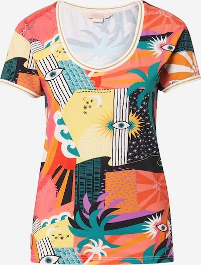 Femi Stories Shirt 'LANDA' in de kleur Lichtgeel / Goud / Smaragd / Zwart / Wit, Productweergave