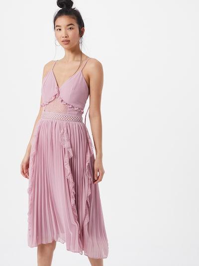 True Decadence Robe de cocktail en mauve, Vue avec modèle