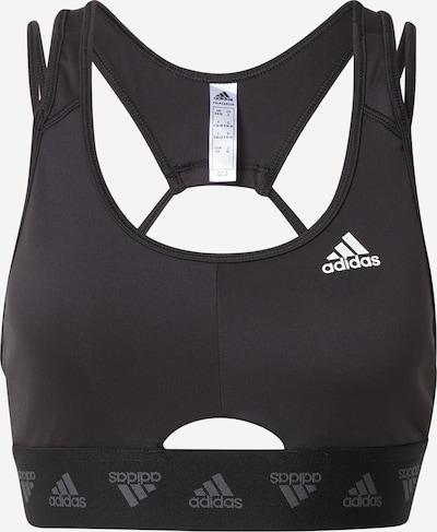 ADIDAS PERFORMANCE Sport-BH in grau / schwarz, Produktansicht