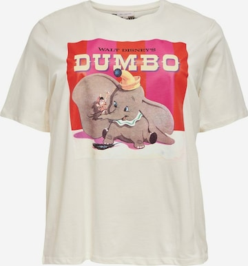 ONLY Carmakoma T-Shirt 'Dumbolove' in Beige