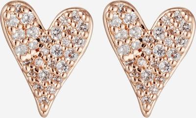 Kate Spade Boucles d'oreilles en or rose / transparent, Vue avec produit