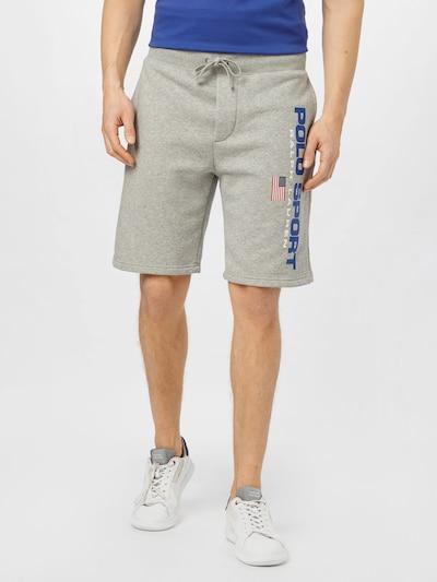 Polo Ralph Lauren Nohavice - modrá / sivá melírovaná / červená / biela, Model/-ka