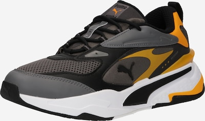 Sneaker bassa PUMA di colore giallo scuro / grigio scuro / nero, Visualizzazione prodotti