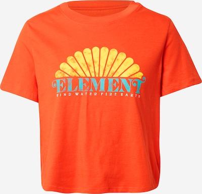 ELEMENT T-shirt fonctionnel 'DEBUT' en turquoise / jaune / orange foncé, Vue avec produit