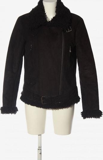 ICHI Kunstfelljacke in M in schwarz, Produktansicht