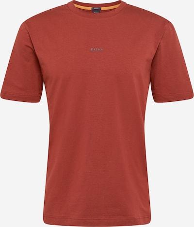 BOSS Casual T-Shirt en rouge rouille: Vue de face