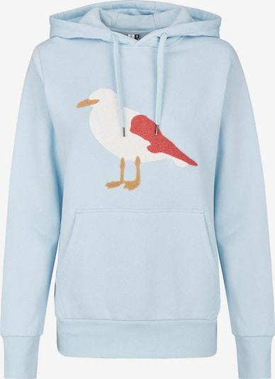 Cleptomanicx Sweatshirt in hellblau / mischfarben, Produktansicht