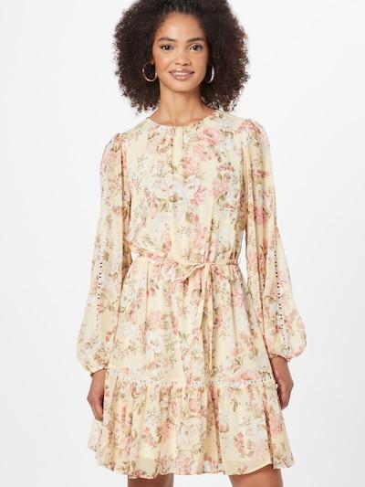Rochie tip bluză 'KATIE' Forever New pe crem / galben pastel / verde iarbă / roz, Vizualizare model