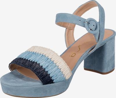 UNISA Sandalette 'Nasir' in marine / rauchblau / weiß, Produktansicht
