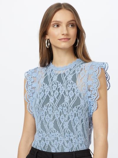 PIECES Blus 'TALLIE' i blå, På modell