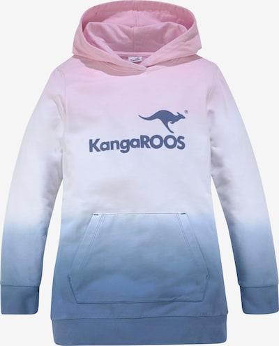 KangaROOS Sweatshirt in himmelblau / rosé / weiß, Produktansicht
