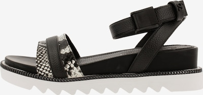 Supertrash Sandale 'Zelma' in grau / schwarz / weiß, Produktansicht