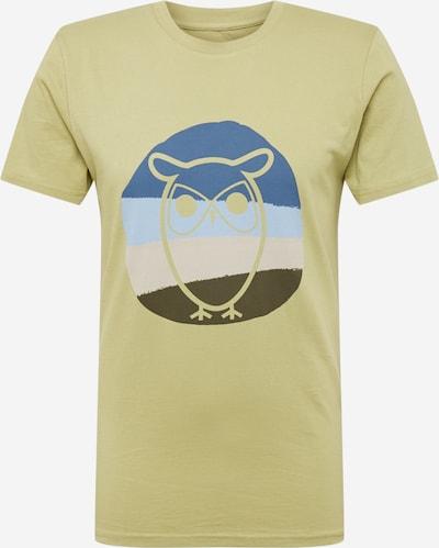 Tricou 'ALDER' KnowledgeCotton Apparel pe crem / bleumarin / albastru deschis / verde stuf / verde închis, Vizualizare produs