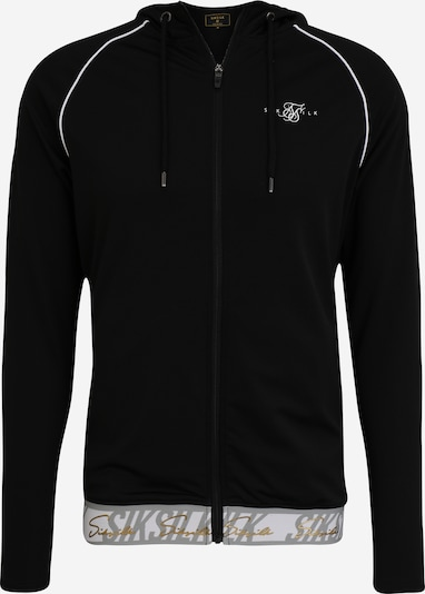SikSilk Sweatjacke in schwarz / weiß, Produktansicht